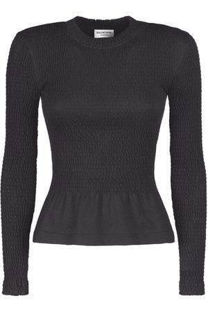 Balenciaga Women Tops - Ruffled Cotton Jersey Top