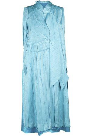 Balenciaga Sleeveless Silk Jacquard Long Dress