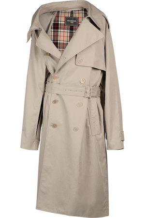 Balenciaga Asymmetric Cotton Drill Trench Coat