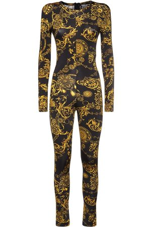 VERSACE Printed Stretch Jersey Jumpsuit