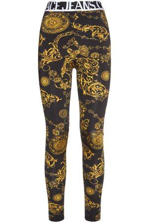 VERSACE Baroque Print Stretch Jersey Leggings