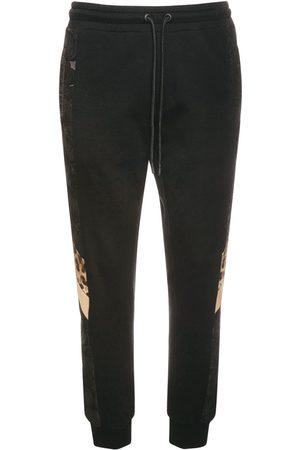 Dolce & Gabbana Logo & Leopard Cotton Sweatpants