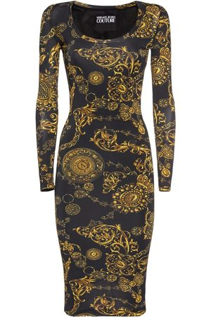 VERSACE Women Casual Dresses - Printed Stretch Jersey Midi Dress