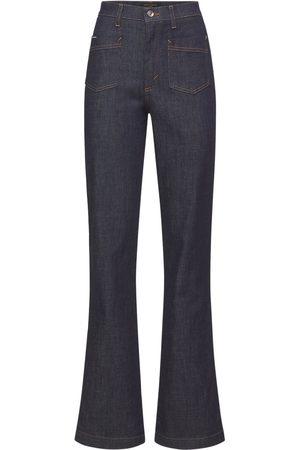 Dolce & Gabbana Denim High Waist Straight Leg Jeans