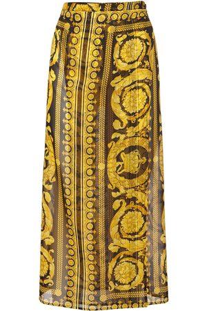 VERSACE Baroque Printed Silk Georgette Skirt