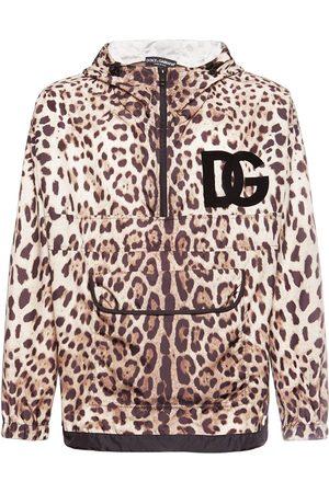 Dolce & Gabbana Logo Print Hooded Nylon Jacket