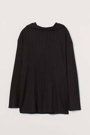 H&M Ribbed Hooded Sweater