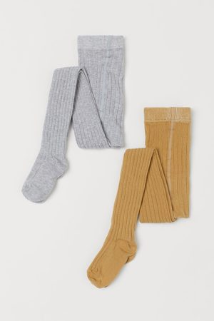 H&M Kids Stockings - 2-pack Ribbed Tights
