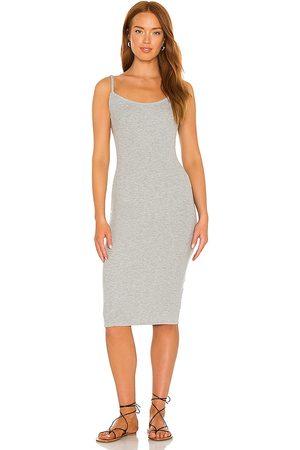 Lovers + Friends Women Midi Dresses - Nadine Midi Dress in Light Grey.
