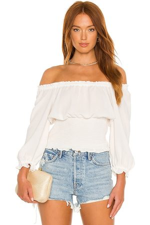 1. STATE Women Blouses - Scoop Neck Ruched Blouse in .