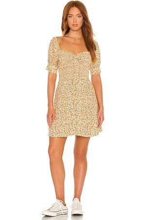 FAITHFULL THE BRAND Women Party Dresses - Dulcia Mini Dress in Yellow.