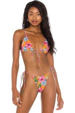 superdown Kendall Bikini Top in Orange.