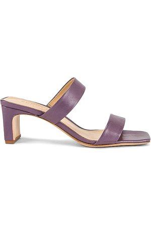 Schutz Women Heeled Sandals - Pony Heel in Lavender.