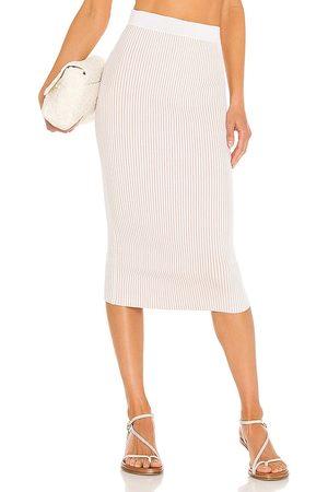 ANINE BING Women Midi Skirts - Julian Skirt in Ivory.