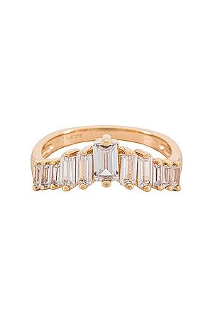 Lili Claspe Women Rings - Appex Baguette Ring in Metallic .