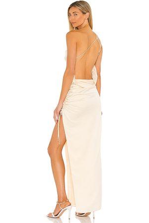 Lovers + Friends Women Evening dresses - Maegan Gown in Metallic Gold.