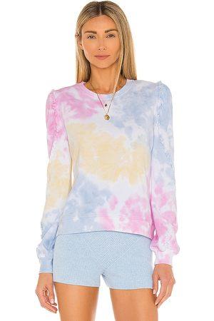Generation Love Women Hoodies - Heidi Ruffle Tie Dye Sweatshirt in Pink.