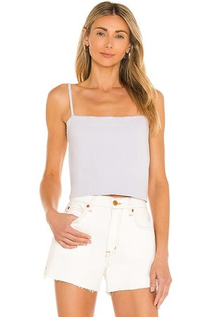 Central Park West Women Tank Tops - X REVOLVE Ipanema Strap Top in Lavender.