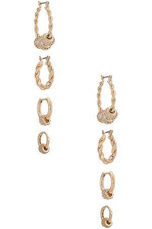 Ettika Women Hoop - Hoop Earring Set in Metallic .