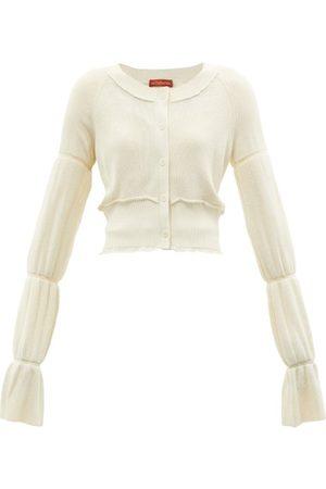 Altuzarra Valli Tiered-sleeves Cardigan - Womens - Ivory