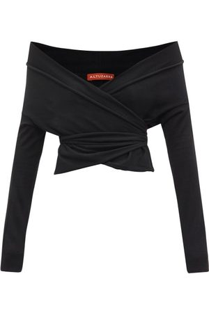Altuzarra Crawley Off-the-shoulder Wrap Sweater - Womens