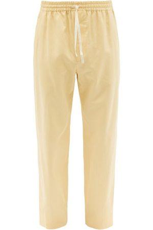 Gucci Drawstring Cotton-blend Trousers - Mens