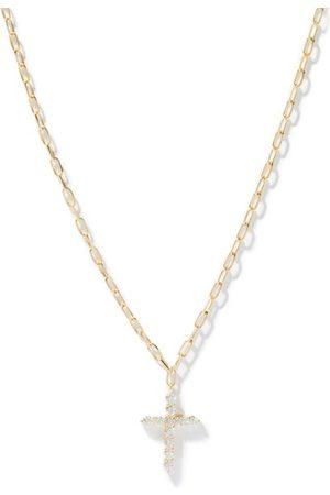 Shay Cross Small Diamond & 18kt Necklace - Mens