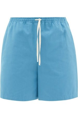 Gucci Bug-embroidered Cotton-canvas Shorts - Mens