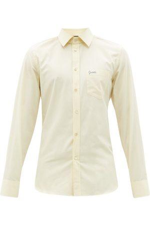 Gucci Logo-embroidered Cotton-poplin Shirt - Mens