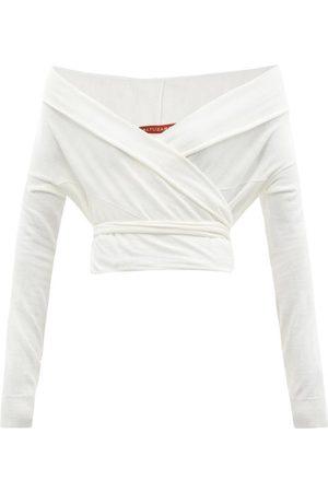 Altuzarra Crawley Off-the-shoulder Wrap Sweater - Womens - Ivory