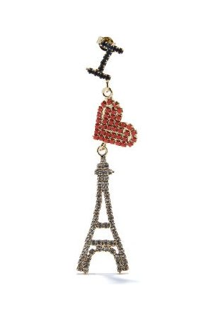 ROSANTICA Voyage Eiffel Tower Crystal Single Drop Earring - Womens - Multi