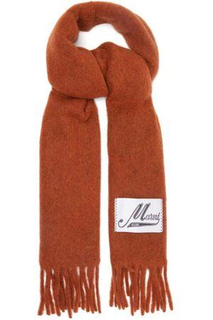 Marni Logo-patch Alpaca-blend Scarf - Womens