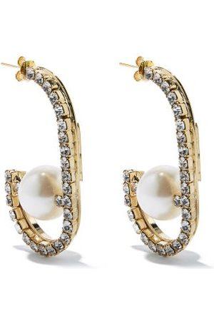ROSANTICA Dedica Crystal & Faux-pearl Hoop Earrings - Womens - Pearl
