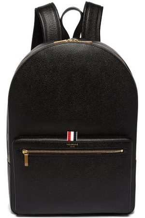 Thom Browne Logo-stamped Structured Pebbled-leather Backpack - Mens