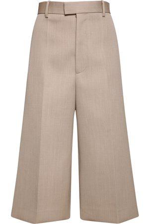 Bottega Veneta Cropped Light Wool Pants