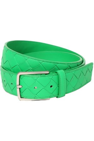 Bottega Veneta Men Belts - 3.5cm New Intreccio Buckle Leather Belt