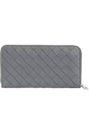 Bottega Veneta Men Wallets - Intreccio Leather Zip Around Wallet