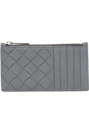 Bottega Veneta Intreccio Leather Zip Card Holder