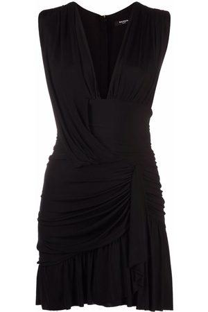 Balmain Ruched sleeveless dress