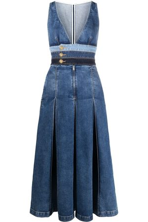 Dsquared2 Inverted-pleat denim dress