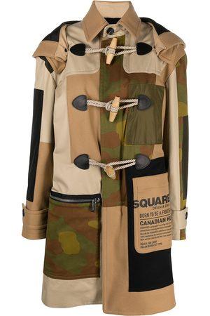 Dsquared2 Women Duffle Coat - Patchwork-design duffle coat - Neutrals