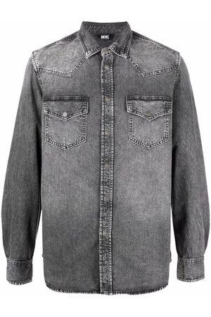 Diesel Men Denim - Stonewashed denim shirt - Grey