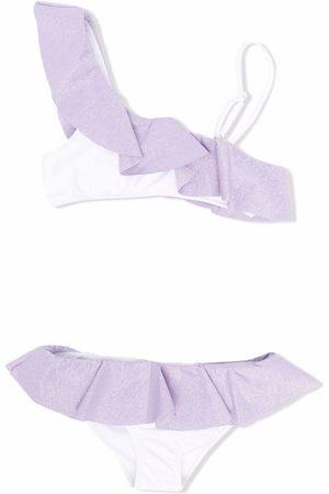 MC2 Saint Barth Kids Off-shoulder ruffled bikini set