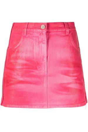 Givenchy Side-zip denim miniskirt