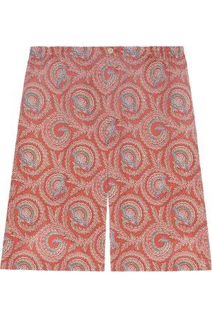 Gucci Men Shorts - Paisley print shorts
