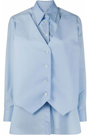 MM6 MAISON MARGIELA Women Waistcoats - Waistcoat poplin shirt