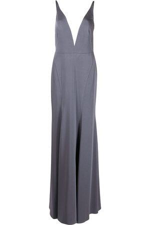 Marchesa Notte Women Evening dresses - Crema plunging V-neck dress