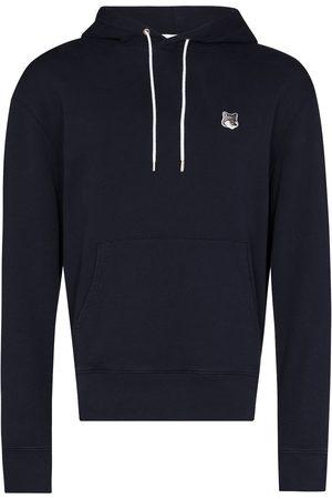 Maison Kitsuné Men Hoodies - Fox-patch cotton hoodie