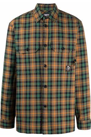Diesel Men Shirts - Flap pocket plaid shirt