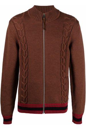 BILLIONAIRE Men Cardigans - Merino wool full-zip jumper